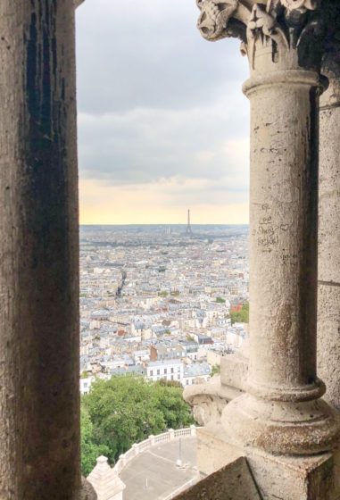 view from sacre coeur in paris, france