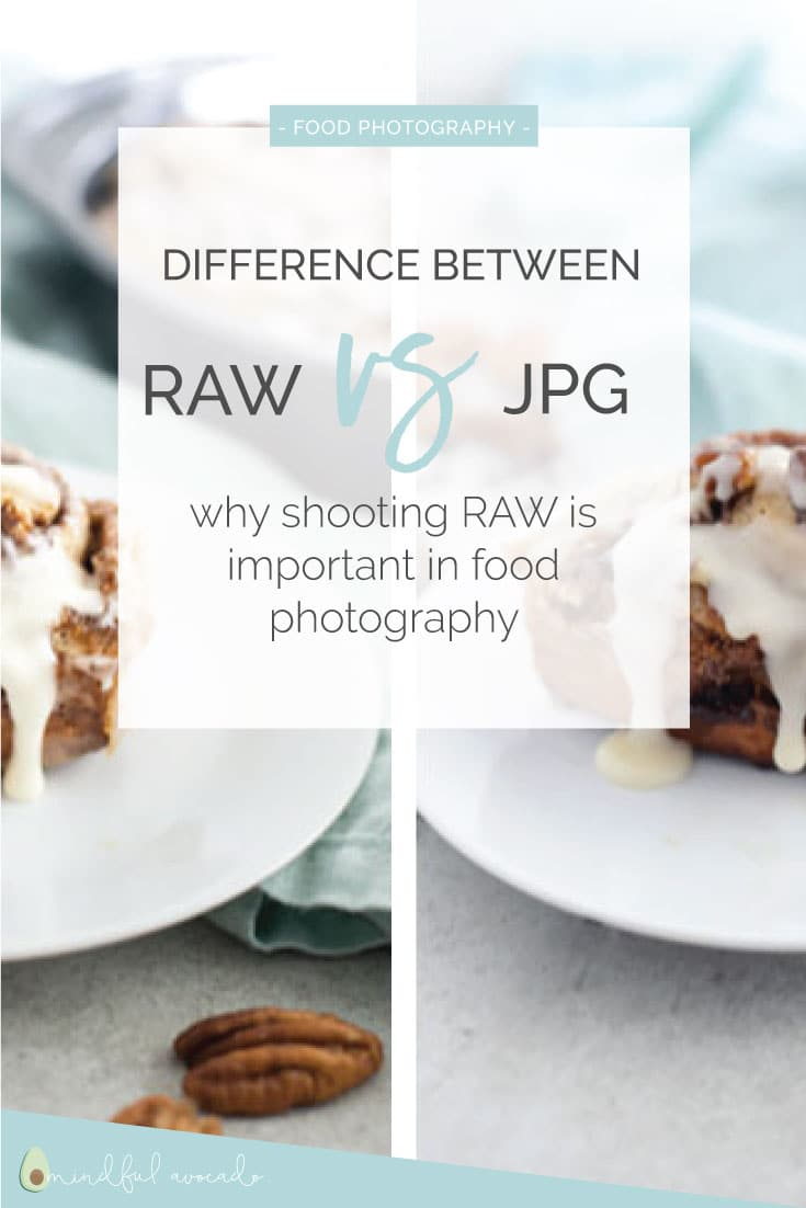 RAW vs JPG -- Learn why RAW files are great for food photography and some tips to processing RAW files in Photoshop! #Nikon #foodphotography #photography #tips #tricks | mindfulavocado