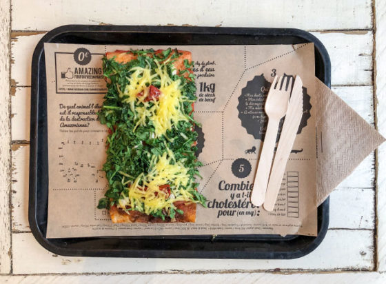 hank pizza in paris, france. an entirely vegan restaurant