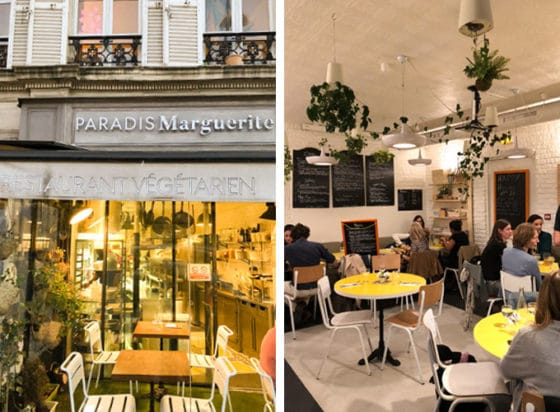 paradis marguette is a vegetarian restaurant in paris, france with vegan options