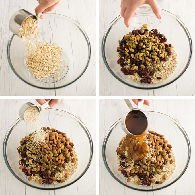 instructions on how to make homemade granola