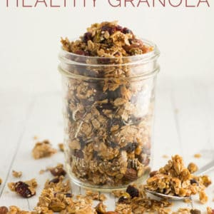 Super Seedy Healthy Granola -- This homemade granola recipe is is naturally vegan, gluten-free, and only requires simple REAL ingredients. It's chunky, crunchy, nutty, and sweet all bundled into little clusters. #granola #homemade #healthy #vegan #cleaneating #recipe | mindfulavocado