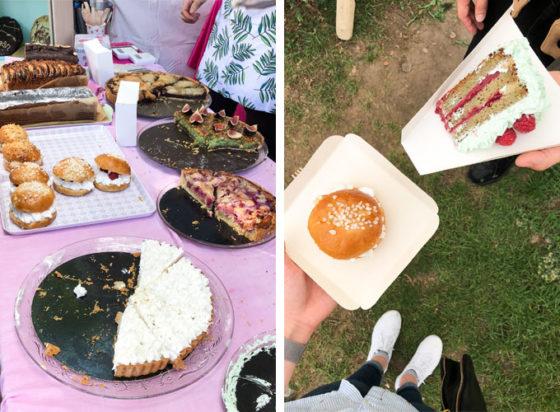 vegan desserts from festival in paris, france