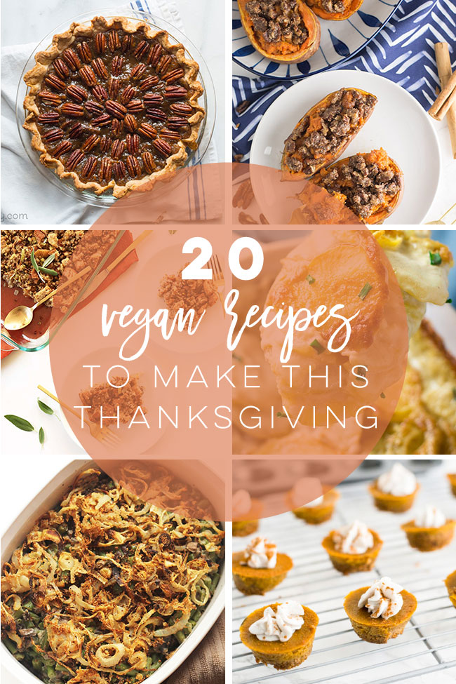 20 Vegan Thanksgiving recipe to forget about turkey! From maindishes, to sides, desserts, and everything in between, find a delicious holiday recipe you'll love #vegan #thanksgiving #maindish #dessert #sides | Mindful Avocado