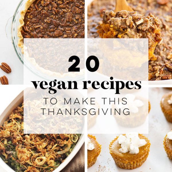 20 Vegan Thanksgiving Recipes -- Whether you are on the hunt for a main dish, sides, or dessert, this has it all for some vegan inspiration this Thanksgiving! #vegan #thanksgiving #maindish #dessert #sides | Mindful Avocado