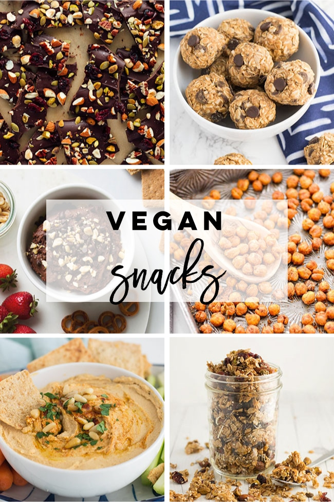Vegan snack ideas for Veganuary
