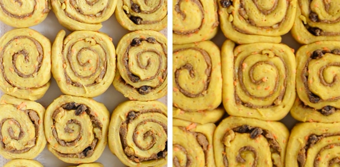 vegan cinnamon rolls proofing
