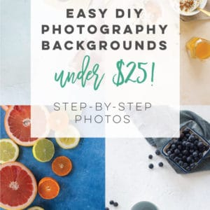Create your own backgrounds for photographers with this easy DIY tutorial. Follow these steps to learn how to make some one of a kind food photography backdrops. Best of all, the boards are less than $25 each to make! #foodphotography #diy #photobackgrounds #foodphotographytips | Mindful Avocado