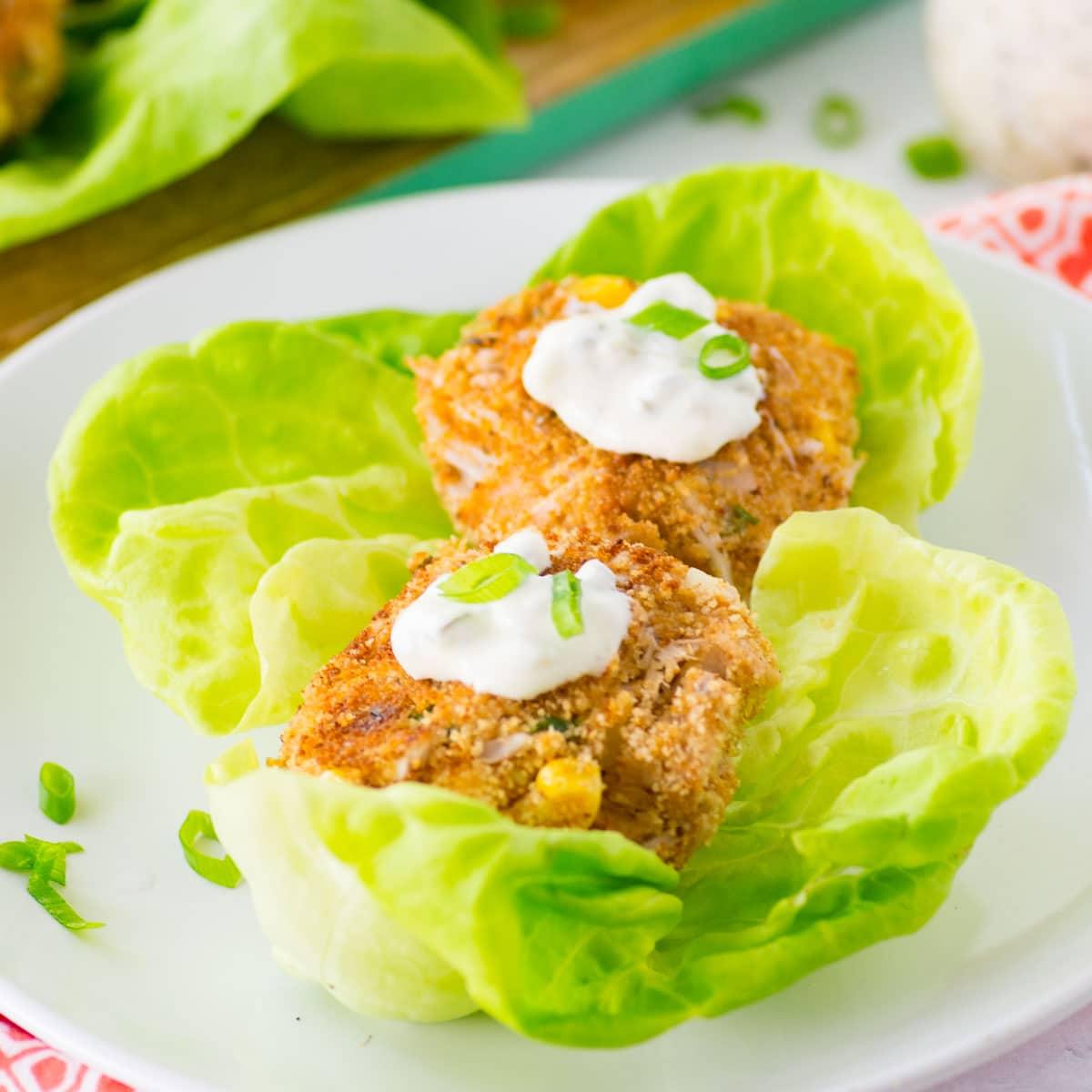 """Jackfruit """"Crab"""" Cakes with Vegan Tartar Sauce"""