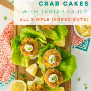 These vegan jackfruit crab cakes are so easy to make and DELICIOUS! Jackfruit, corn, and green onions come together to make these plant-based crab cakes. #veganseafood #vegancrabcakes #jackfruitrecipes #jackfruit #healthycrabcakes | Mindful Avocado