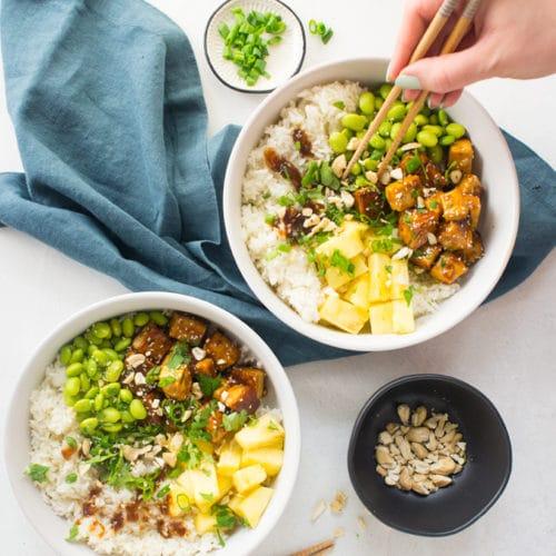 Teriyaki Tofu Bowls {Vegan!}