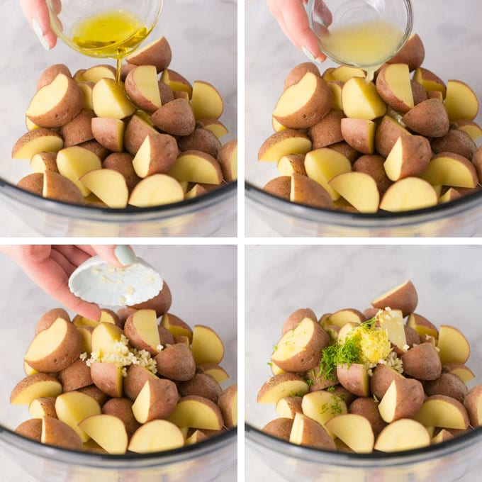 steps on how to make roasted red potatoes