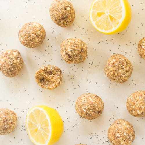 Lemon Poppy Seed Energy Bites
