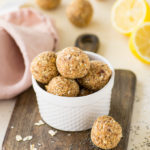 lemon poppy seed energy bites - healthy vegan and gluten free no bake snack