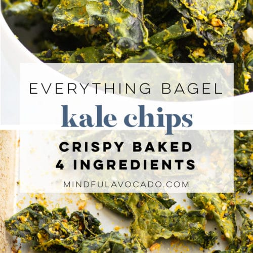 CRISPY BAKED EVERYTHING BAGEL KALE CHIPS