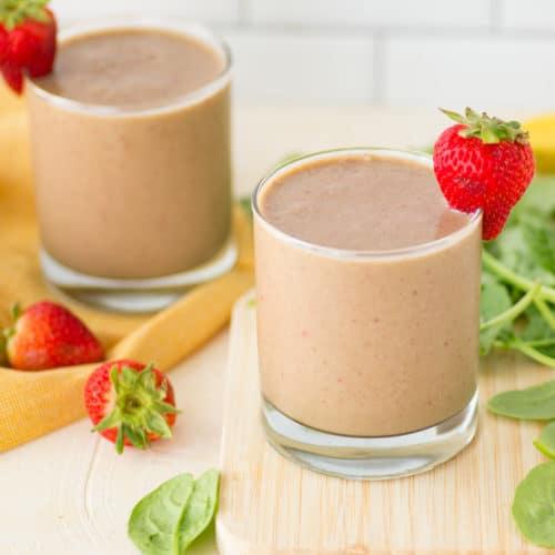 Vegan Strawberry Banana Smoothie