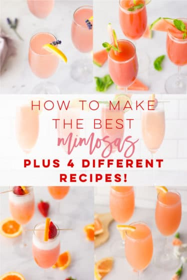 Learn how to make the most DELICIOUS mimosas! Simply get fresh juice and champagne to make a drink recipe that's perfect for brunch! #mimosas #mimosarecipe #strawberry #orangejuice #brunch #summer | Mindful Avocado