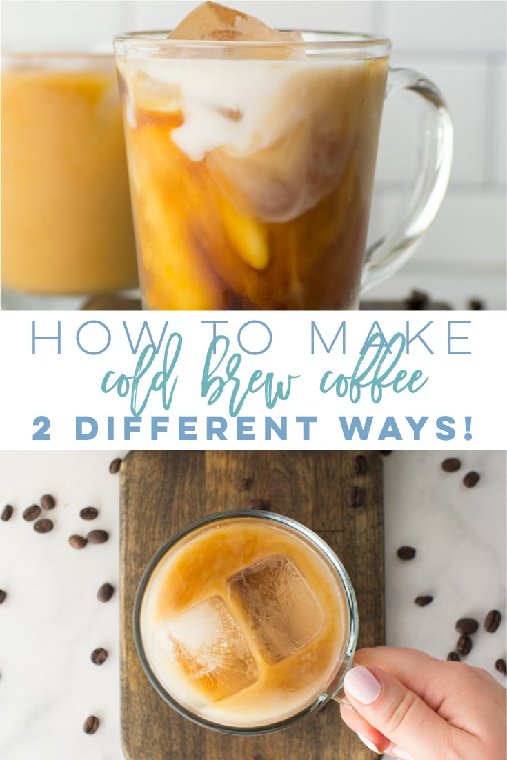 How to Make Cold Brew Coffee at Home -- This recipe is so simple and provides two different methods - using a French press or mason jar! Learn how to make cold brew concentrate at home to enjoy a refreshing beverage every day! #coldbrewcoffee #coldbrew #vegan #frenchpress | Mindful Avocado
