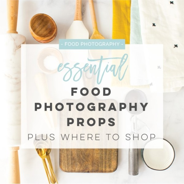 Food photography prop ideas -- From napkins, to pinch bowls, utensils, and everything in between, this list has everything you need for food photography. Plus, discover the best places to shop to add to your prop collection! #foodphotography #foodphotographytips #foodphotographyprops | Mindful Avocado