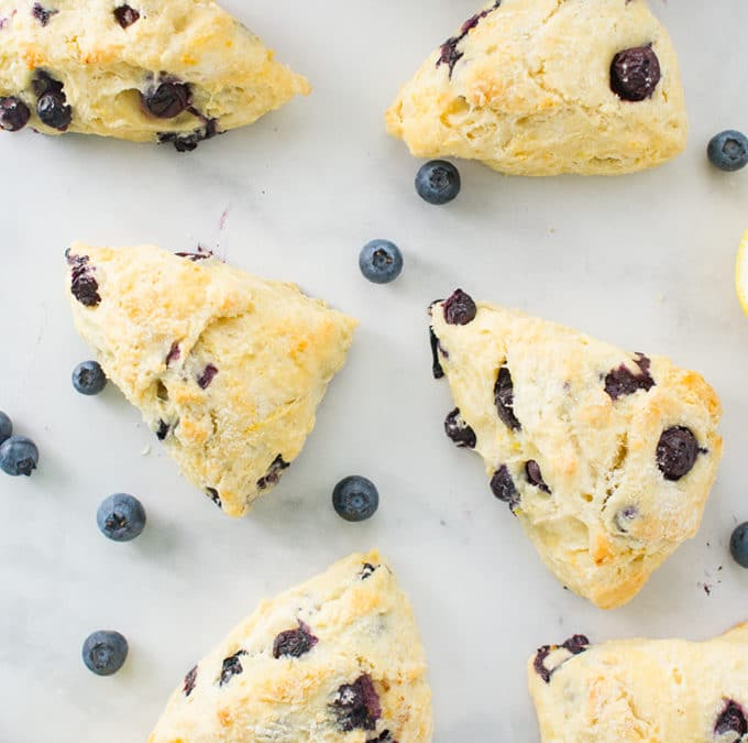 Lemon Blueberry Scones {Vegan!} + VIDEO