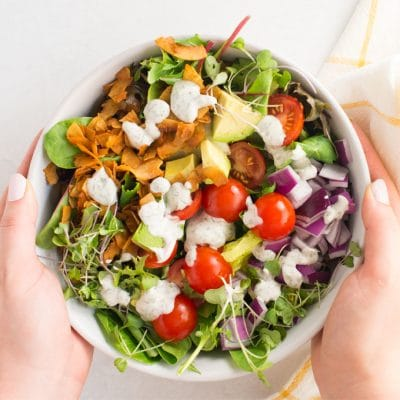 Vegan Cobb Salad with Homemade Ranch Dressing