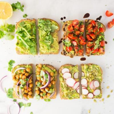 Vegan Avocado Toast – 4 Ways! + VIDEO