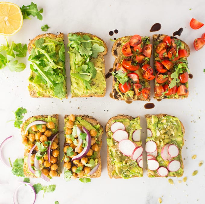 Vegan Avocado Toast – 4 Ways! + VIDEO