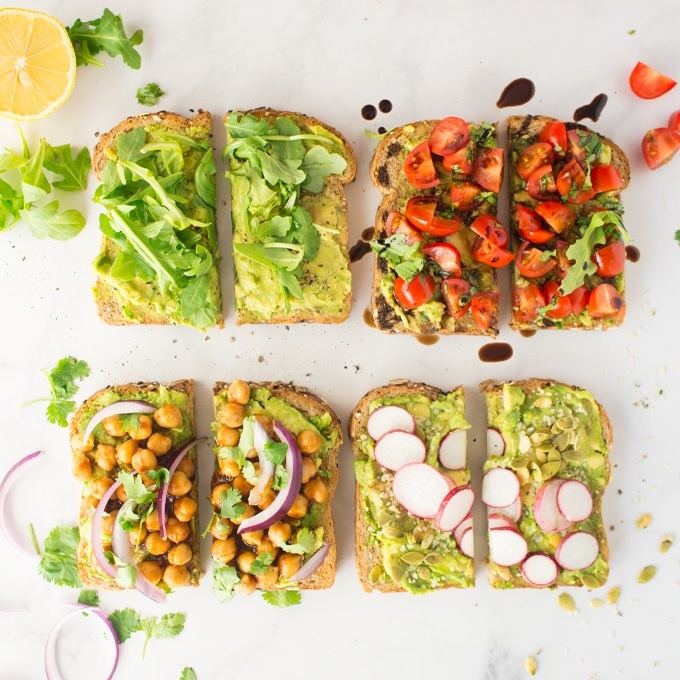 4 vegan avocado toast recipes