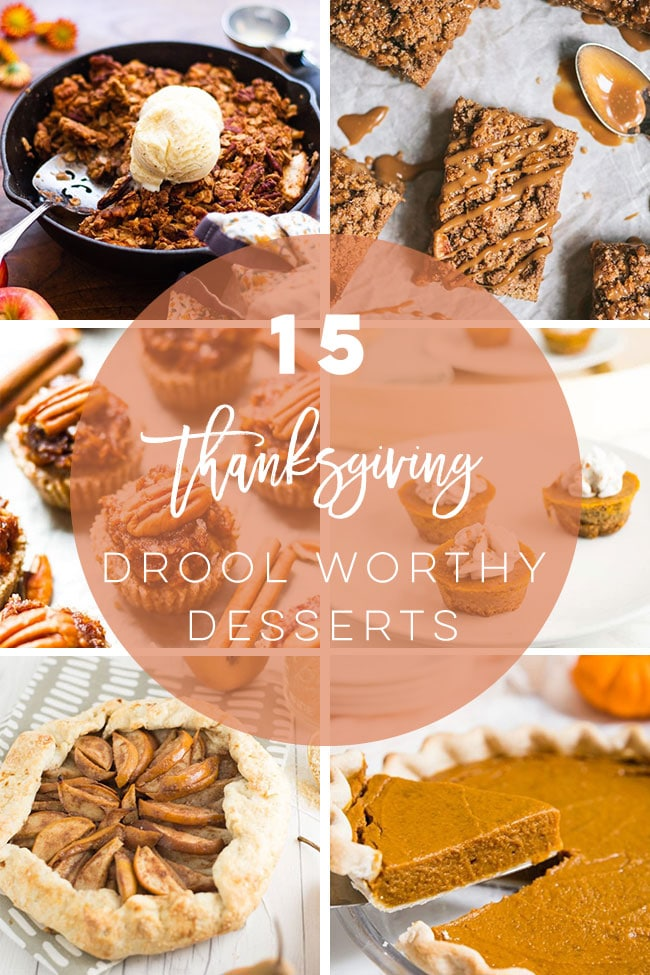 Find easy and delicious vegan Thanksgiving dessert recipes all your family and friends will love. Whether you are planning a Friendsgiving or a Thanksgiving feast, these vegan desserts deserve a spot at your table! #thanksgiving #veganthanksgiving #vegandesserts #veganthanksgivingdesserts | Mindful Avocado