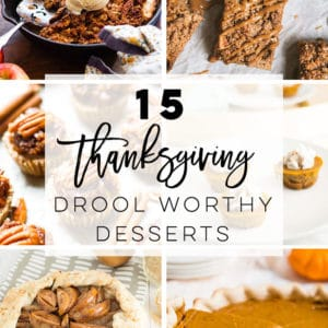 Vegan Thanksgiving Desserts -- Discover easy and drool-worthy Thanksgiving desserts that are vegan and plant-based! From apple crisp to pumpkin pie, pear galette, and pecan tarts, there's something everyone will love! #thanksgiving #veganthanksgiving #vegandesserts #veganthanksgivingdesserts | Mindful Avocado