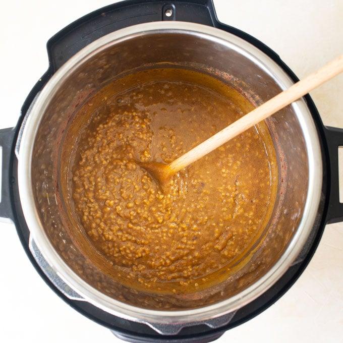 pumpkin oatmeal in Instant Pot