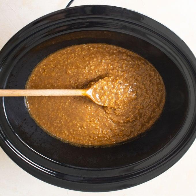 pumpkin oatmeal in slow cooker