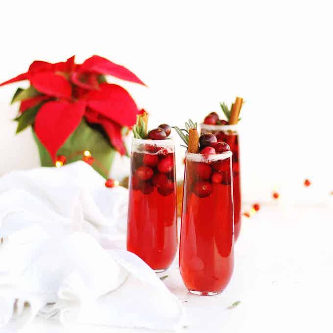 Holiday Orange Cranberry Mimosa