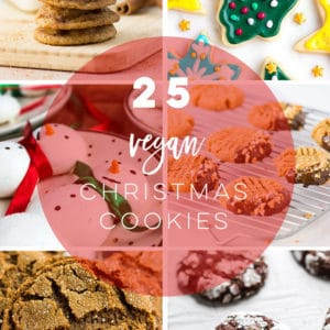 Discover 25 delicious vegan Christmas cookie recipes! From classics like sugar cookies and gingerbread, to modern favorites like chai snickerdoodles, this list has something that will make everyone merry and bright! #veganchristmascookies #christmascookies #veganchristmas | Mindful Avocado