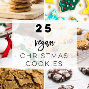 Vegan Christmas Cookies -- Discover 25 AMAZING vegan Christmas cookie recipes! Perfect for any holiday occasion or cookie swaps. All easy to make and taste so good! #veganchristmascookies #christmascookies #veganchristmas | Mindful Avocado