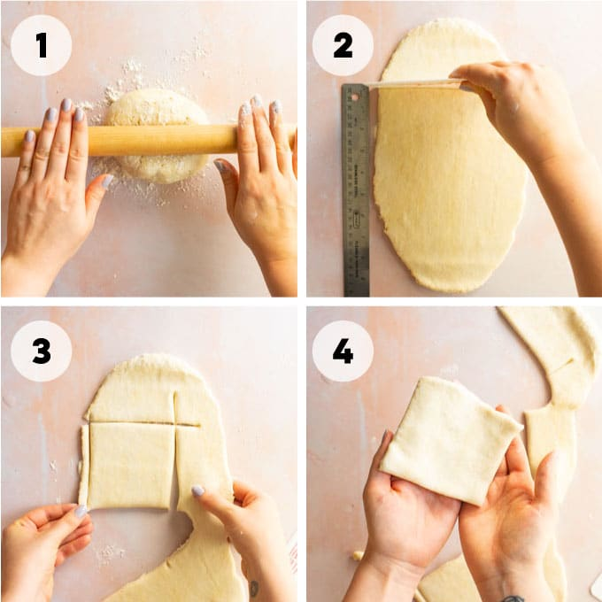instructions on rolling out dough