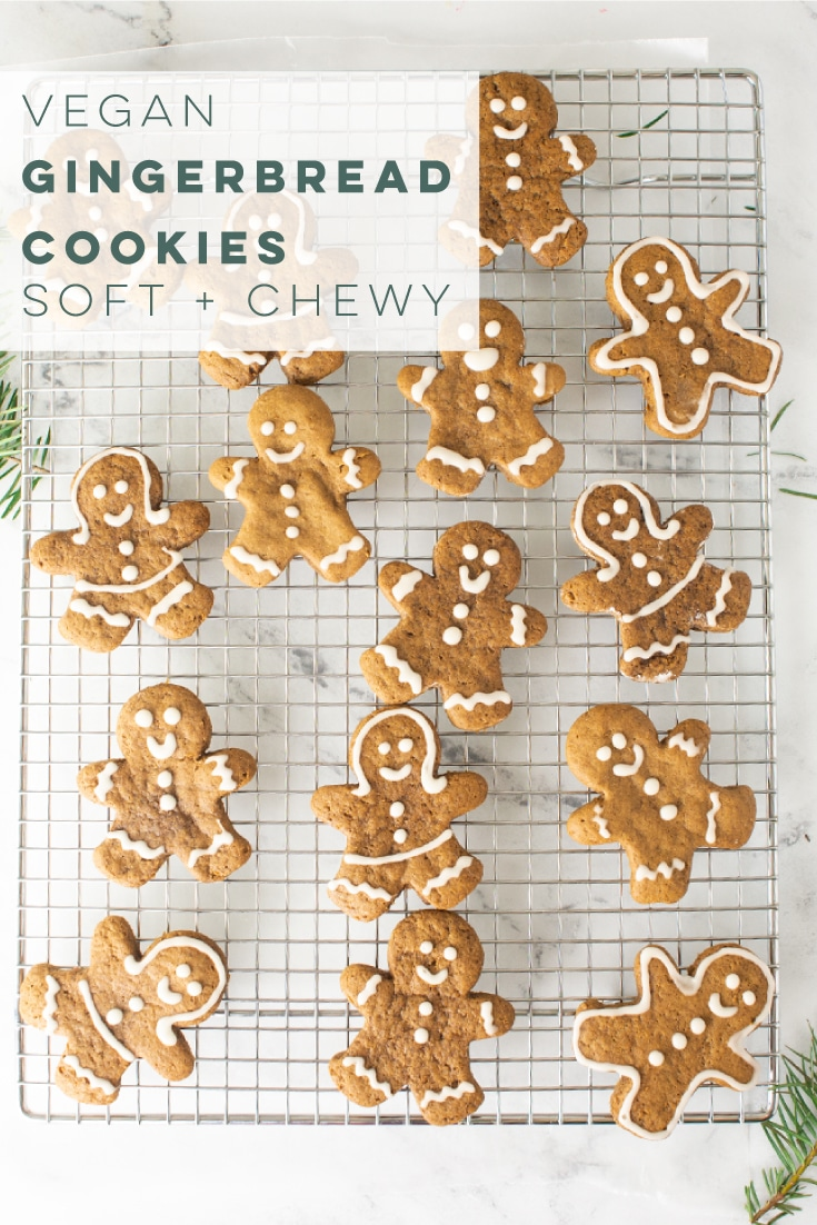 Vegan gingerbread men are the perfect plant-based cookie recipe! Perfect for Christmas parties, or making cookies with the kids. The whole family will enjoy this recipe. #christmascookies #gingerbreadcookies #gingerbreadmen #vegancookies   Mindful Avocado