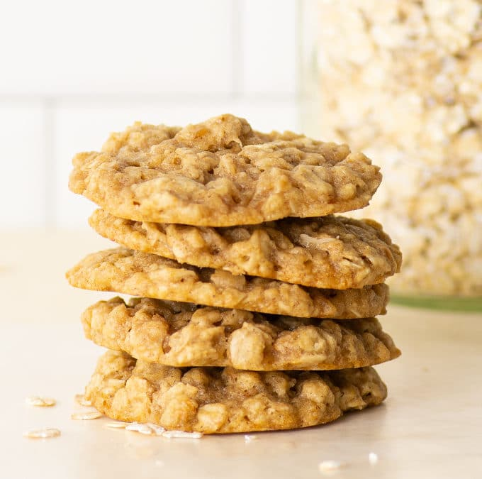 Soft + Chewy Vegan Oatmeal Cookies + VIDEO!