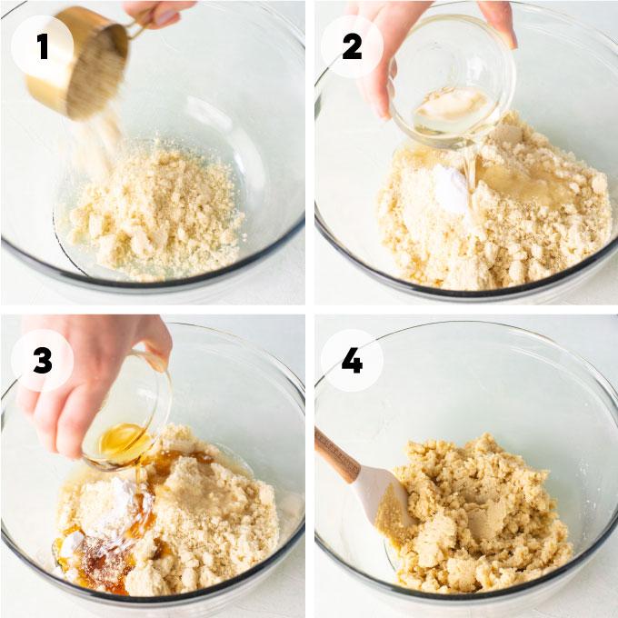 mixing thumbprint cookie dough