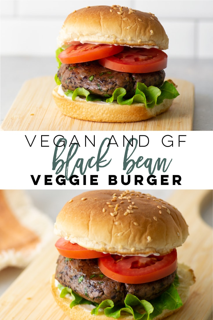Vegan and Gluten-Free Black Bean Burgers -- This veggie burger is so easy to make and healthy! Full of flavor, these vegan burgers are the BEST! Perfect for a plant-based dinner. #veggieburger #blackbeanburger #veganburger #veganandgf | Mindful Avocado