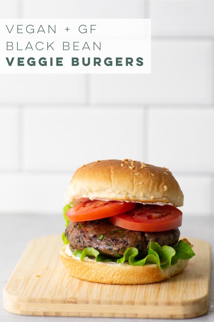 Vegan and GF Black bean burgers are the BEST homemade veggie burgers! So easy to make and all simple ingredients. This recipe is gluten-free thanks to cassava flour. #veggieburger #blackbeanburger #veganburger #veganandgf | Mindful Avocado