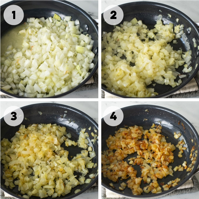 steps on how to make caramelized onions