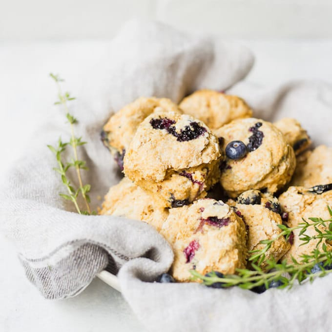 blueberry lemon thyme biscuits