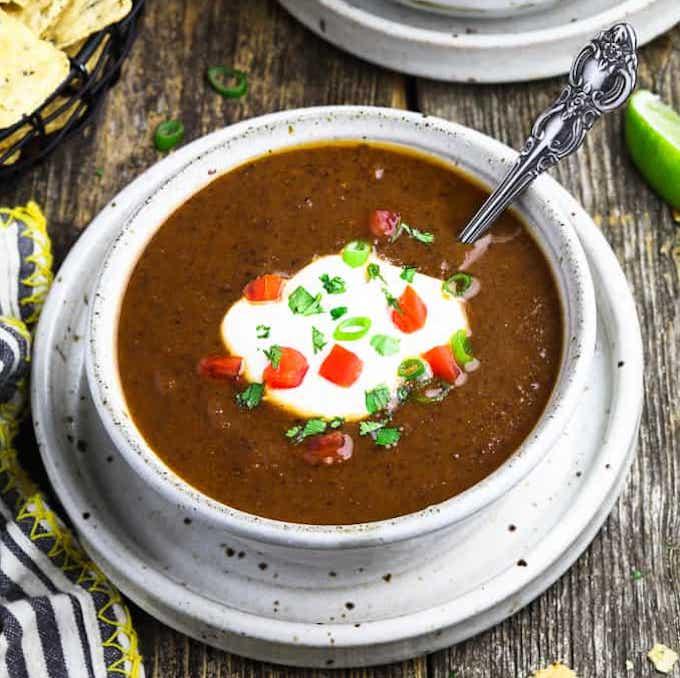 mexican black bean soup vegan