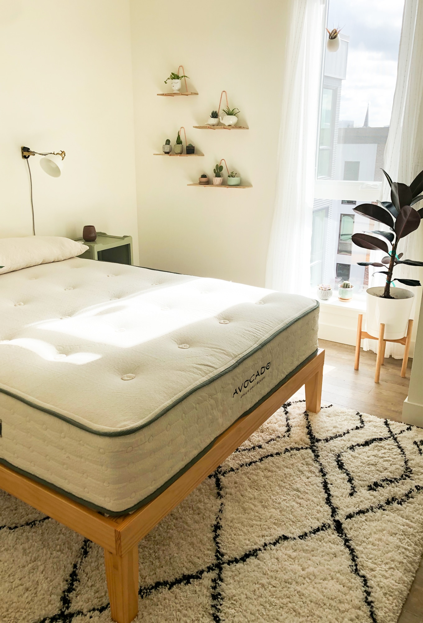 avocado brand mattress in modern bedroom