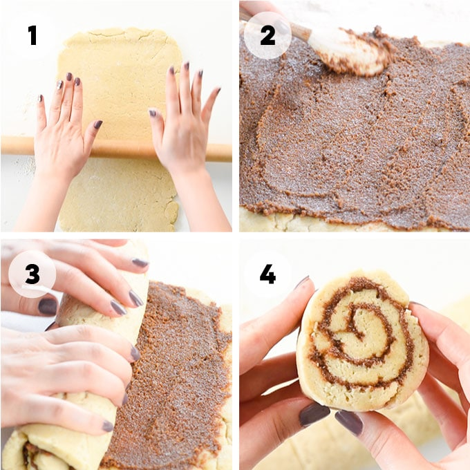 instructions on how to roll cinnamon rolls