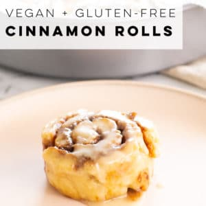 GF and Vegan cinnamon rolls are the BEST! Using Bobs Red Mill pizza dough mix, these cinnamon rolls have a nice texture. It's hard to believe they are gluten-free! #cinnamonrolls #gfcinnamonrolls #vegancinnamonrolls #veganbaking #gfbaking | Mindful Avocado
