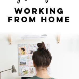 How To Stay Productive Working From Home -- Working from home can be HARD. Here are 12 ways to stay motivated and get things done all in the comfort of your own home. #workingfromhome #workfromhome #productivity | Mindful Avocado