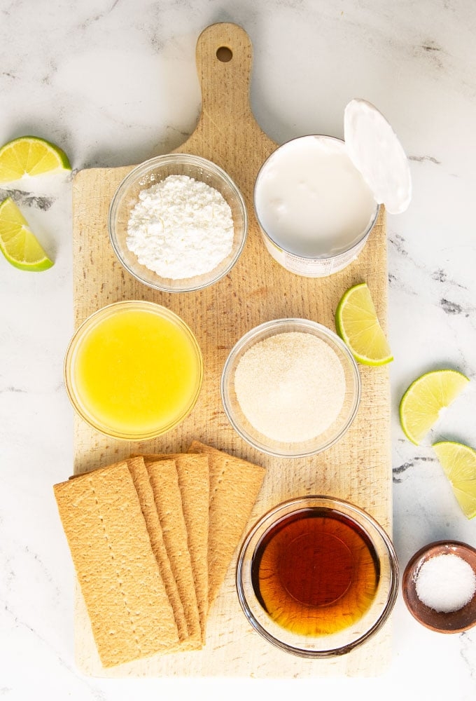 ingredients for vegan key lime pie