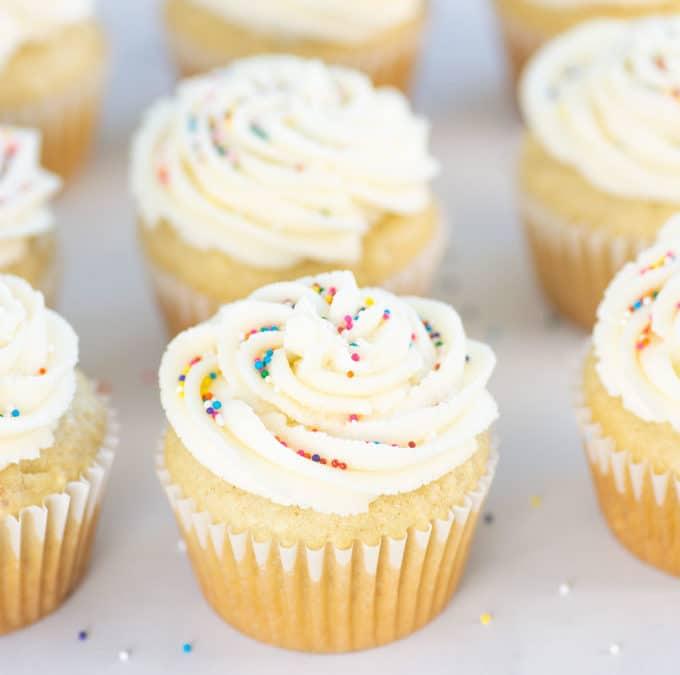 Vegan Vanilla Cupcakes with Vanilla Buttercream